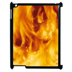 YELLOW FLAMES Apple iPad 2 Case (Black)