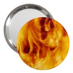 YELLOW FLAMES 3  Handbag Mirrors