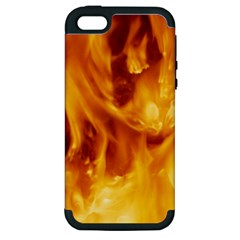 YELLOW FLAMES Apple iPhone 5 Hardshell Case (PC+Silicone)