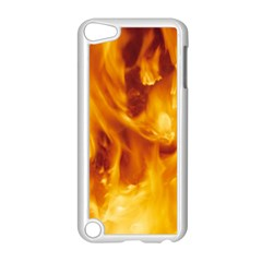 YELLOW FLAMES Apple iPod Touch 5 Case (White)