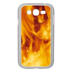 YELLOW FLAMES Samsung Galaxy Grand DUOS I9082 Case (White)