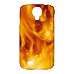YELLOW FLAMES Samsung Galaxy S4 Classic Hardshell Case (PC+Silicone)