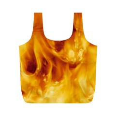 YELLOW FLAMES Full Print Recycle Bags (M)