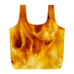 YELLOW FLAMES Full Print Recycle Bags (L)
