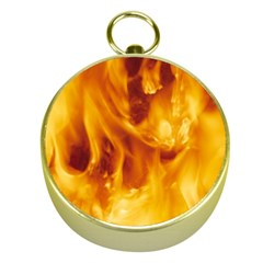 YELLOW FLAMES Gold Compasses