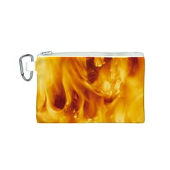 YELLOW FLAMES Canvas Cosmetic Bag (S)
