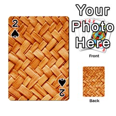 Woven Straw Playing Cards 54 Designs