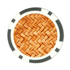WOVEN STRAW Poker Chip Card Guards