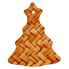 WOVEN STRAW Christmas Tree Ornament (2 Sides)