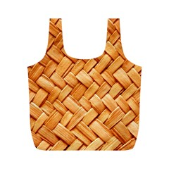 WOVEN STRAW Full Print Recycle Bags (M)