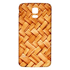 WOVEN STRAW Samsung Galaxy S5 Back Case (White)