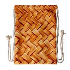 Woven Straw Drawstring Bag (large)