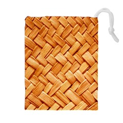 Woven Straw Drawstring Pouches (extra Large)