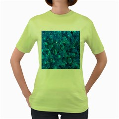 TURQUOISE GLASS Women s Green T-Shirt