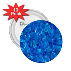 TURQUOISE GLASS 2.25  Buttons (10 pack)