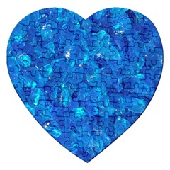 TURQUOISE GLASS Jigsaw Puzzle (Heart)