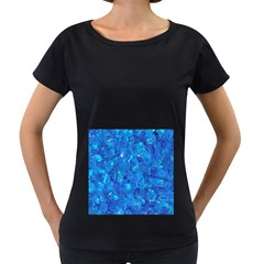 TURQUOISE GLASS Women s Loose-Fit T-Shirt (Black)