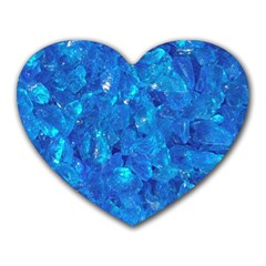 TURQUOISE GLASS Heart Mousepads