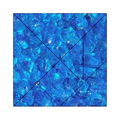 Turquoise Glass Acrylic Tangram Puzzle (6  X 6 )