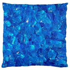 TURQUOISE GLASS Large Cushion Cases (One Side)