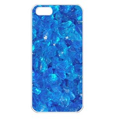 TURQUOISE GLASS Apple iPhone 5 Seamless Case (White)
