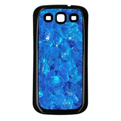 TURQUOISE GLASS Samsung Galaxy S3 Back Case (Black)