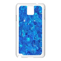 TURQUOISE GLASS Samsung Galaxy Note 3 N9005 Case (White)