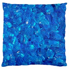 TURQUOISE GLASS Large Flano Cushion Cases (One Side)