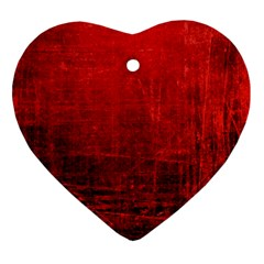 SHADES OF RED Ornament (Heart)