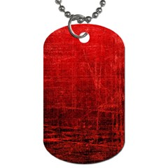 SHADES OF RED Dog Tag (One Side)