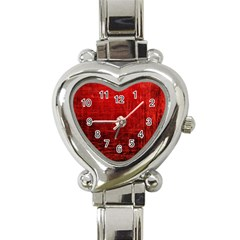 Shades Of Red Heart Italian Charm Watch