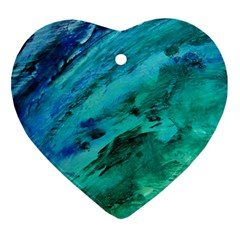 SHADES OF BLUE Ornament (Heart)