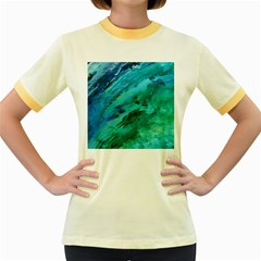 SHADES OF BLUE Women s Fitted Ringer T-Shirts