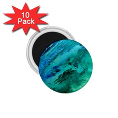 Shades Of Blue 1 75  Magnets (10 Pack)