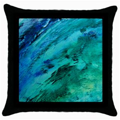 Shades Of Blue Throw Pillow Cases (black)