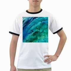 SHADES OF BLUE Ringer T-Shirts