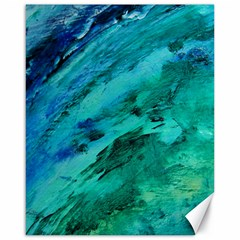 SHADES OF BLUE Canvas 16  x 20