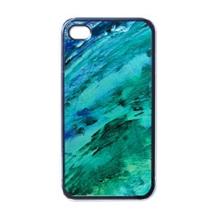 SHADES OF BLUE Apple iPhone 4 Case (Black)