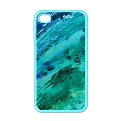 SHADES OF BLUE Apple iPhone 4 Case (Color)