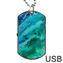 SHADES OF BLUE Dog Tag USB Flash (One Side)