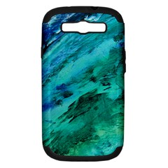 Shades Of Blue Samsung Galaxy S Iii Hardshell Case (pc+silicone)