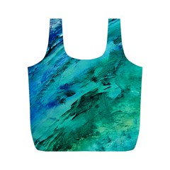 SHADES OF BLUE Full Print Recycle Bags (M)