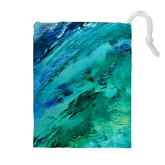 Shades Of Blue Drawstring Pouches (extra Large)