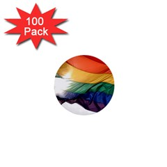 PRIDE FLAG 1  Mini Buttons (100 pack)