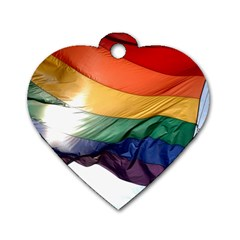 PRIDE FLAG Dog Tag Heart (Two Sides)