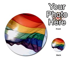 Pride Flag Multi Purpose Cards (round)