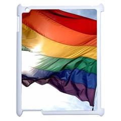 PRIDE FLAG Apple iPad 2 Case (White)