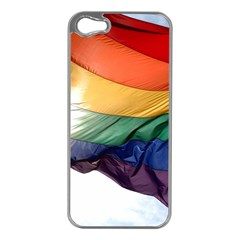 PRIDE FLAG Apple iPhone 5 Case (Silver)