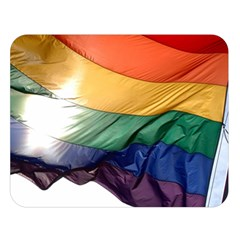 PRIDE FLAG Double Sided Flano Blanket (Large)