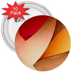 PRETTY ABSTRACT ART 3  Buttons (10 pack)